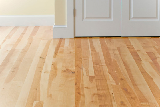 Idea center stone and flooring mojo home projects for Birch wood floor